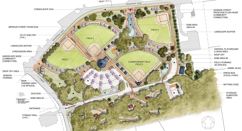 Briarfield Park Master Plan Burgess Niple