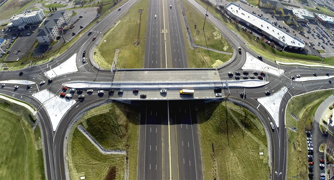 I-69 and DuPont Road Diverging Diamond Interchange