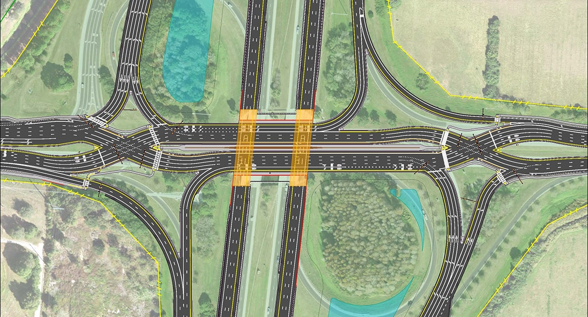 I-75/Fruitville Road Diverging Diamond Interchange