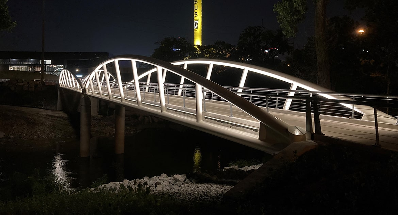 Olentangy Trail - Arena District Connector Bridge