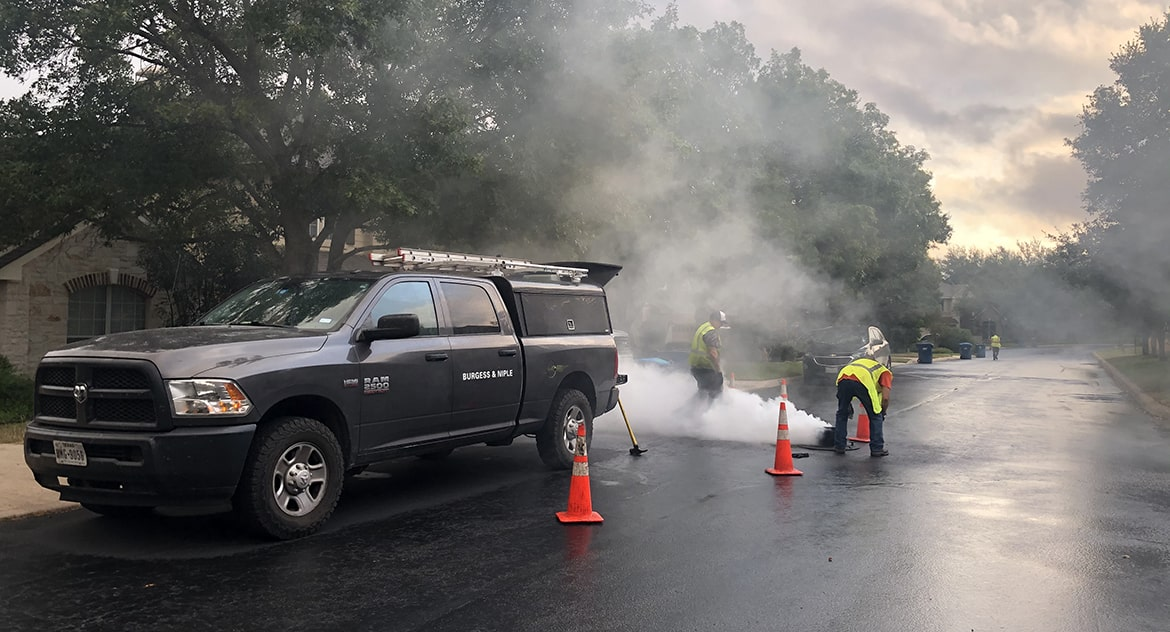 Sanitary Sewer Line Smoke Testing
