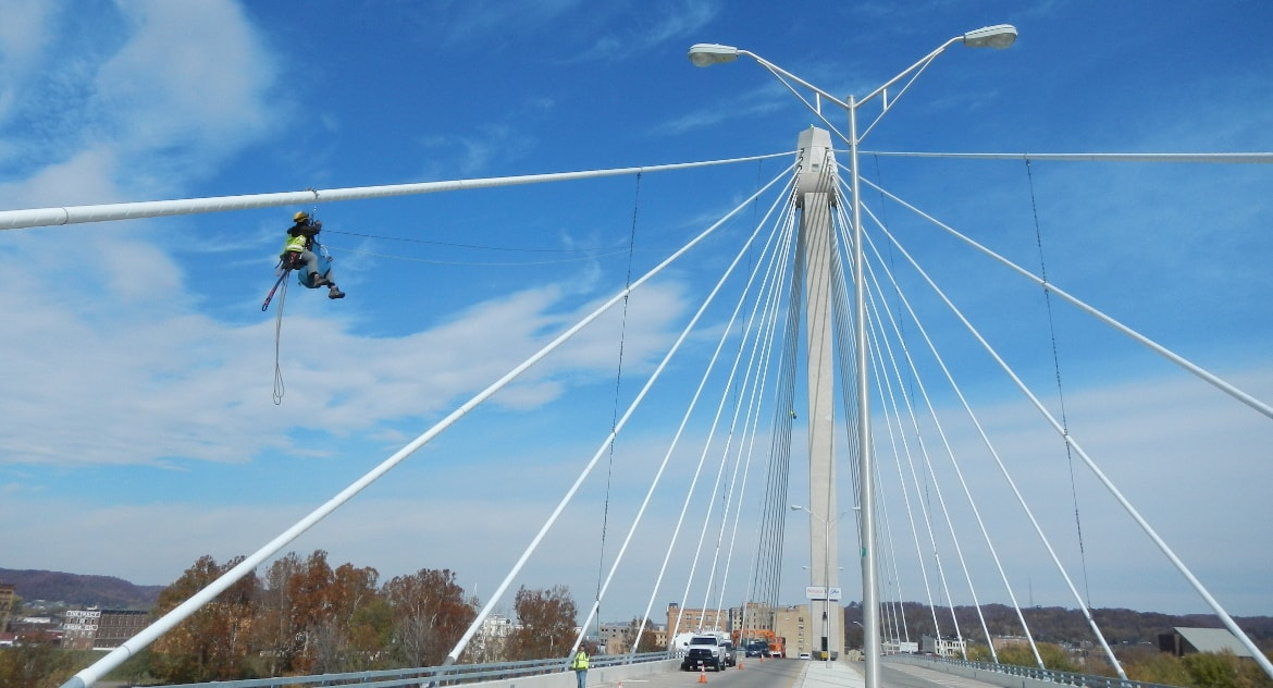 US Grant Cable Stay Bridge Inspection